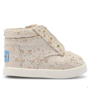 TOMS Baby Paseo High-Top Snow Spots Sneakers, sz 7